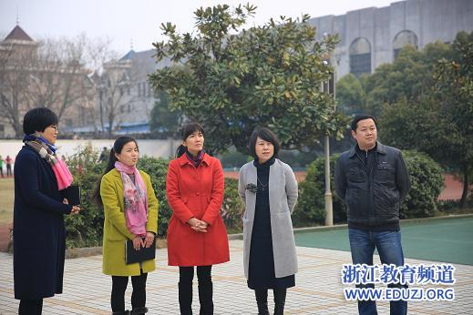 虞文娟副区长莅临杭州明德小学视察指导工作